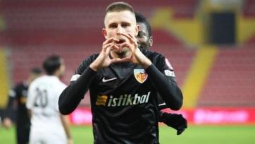 Украинец Кравец забил гол в третьем матче подряд за турецкий «Кайсериспор»