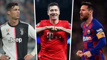 Месси, Роналду и Левандовски претендуют на звание лучшего игрока недели в ЛЧ