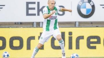 Роббен забил свой первый гол за «Гронинген» после возобновления карьеры. Видео