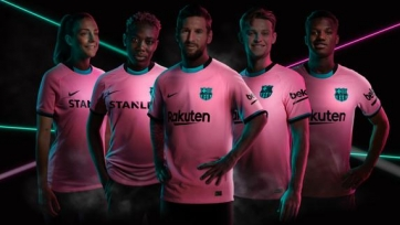 «Барселона» станет розовой. Клуб представил третью форму на сезон. Фото + видео