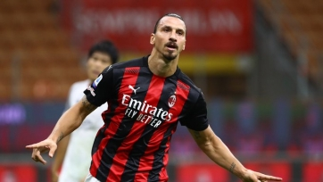 Ибрагимович удвоил перевес «Милана» в матче против «Болоньи». Видео