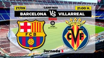 «Барселона» – «Вильярреал». 27.09.2020. Где смотреть онлайн трансляцию матча