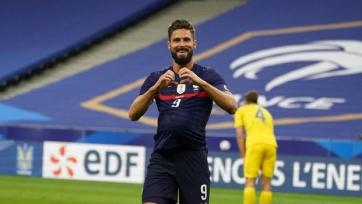 Жиру занял второе место в реестре голеадоров сборной Франции