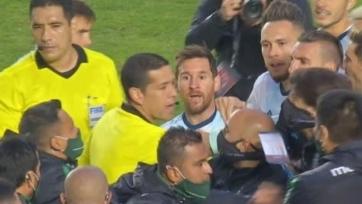 После матча Боливия – Аргентина Месси стал участником потасовки. Видео