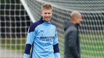 Де Брейне возобновил работу в общей группе «Манчестер Сити»