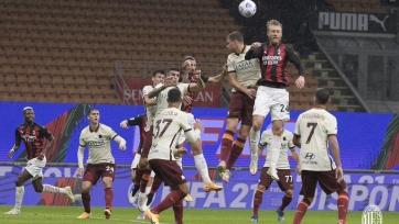 Чемпионат Италии. «Милан» и «Рома» в результативном матче не смогли выявить победителя