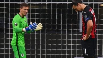 Ибрагимович не забил второй пенальти из трех последних за «Милан»
