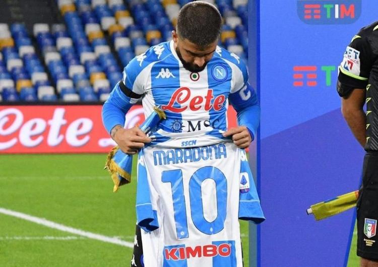 Инсинье посвятил гол в ворота «Ромы» Марадоне. Фото