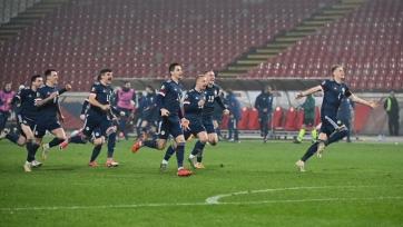 Шотландия в серии пенальти сломила Сербию по пути на Евро-2020