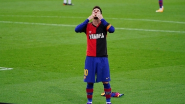 Месси после гола «Осасуне» почтил память Марадоны. Видео