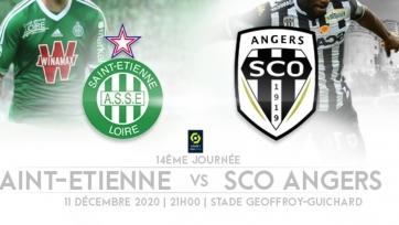 «Сент-Этьен» – «Анжер». 11.12.2020. Где смотреть онлайн трансляцию матча