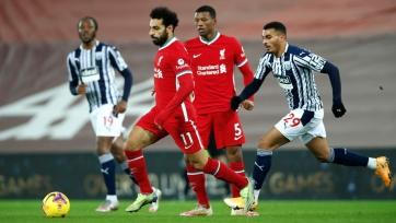 Лидер неожиданно оступился. «Ливерпуль» потерял очки в матче против «Вест Бромвича»