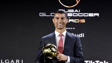 Как Роналду получил награду Globe Soccer лучшему игроку XXI века. Видео