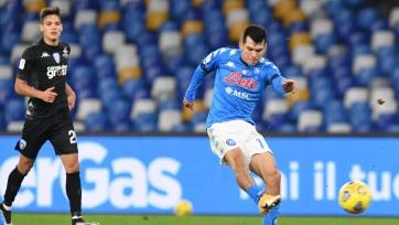 «Наполи» не без проблем обыграл «Эмполи» на пути в 1/4 финала Кубка Италии