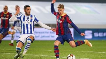 «Реал Сосьедад» – «Барселона» – 1:1 (по пен. – 2:3). Текстовая трансляция матча