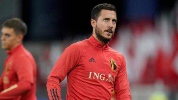 Азар признан лучшим футболистом в истории сборной Бельгии