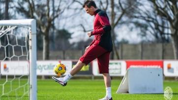 «Милан» показал фото с первой тренировки Манджукича