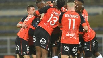 «Лорьян» вырвал победу у «Дижона» в отложенном матче Лиги 1