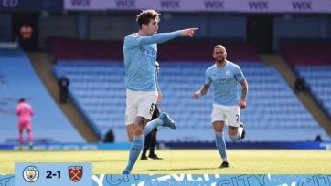 «Манчестер Сити» с трудом обыграл «Вест Хэм»