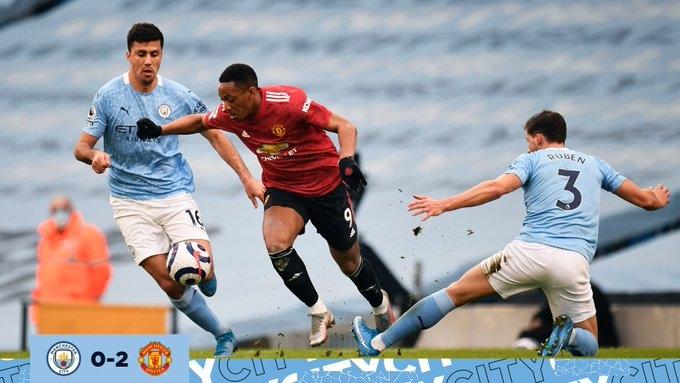 «Манчестер Сити» - «Манчестер Юнайтед» - 0:2. Обзор матча и видео голов