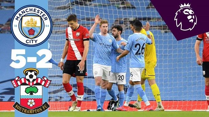 «Манчестер Сити» - «Саутгемптон» - 5:2. Обзор матча и видео голов