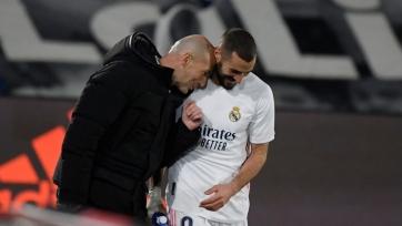 Зидан надеется, что Бензема восстановится к матчу с «Атлетико»