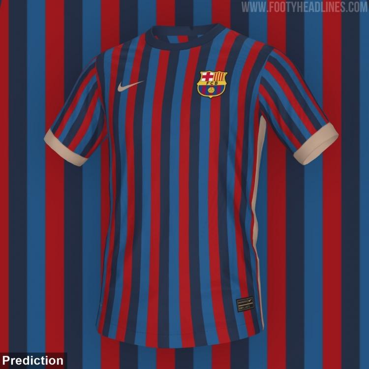 В сеть попал концепт домашней формы «Барселоны» на сезон-2022/23. Фото