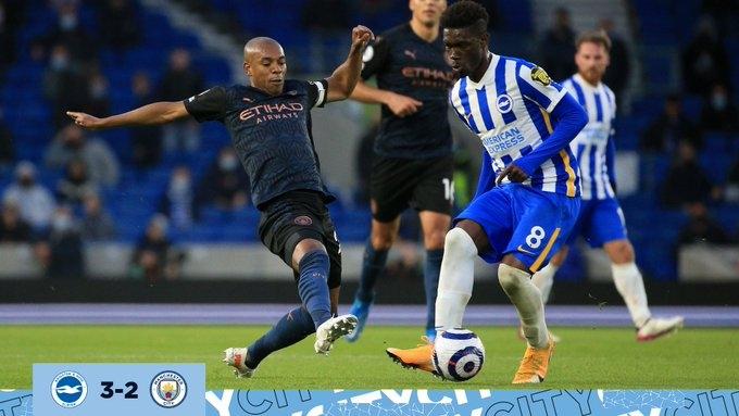 «Брайтон» - «Манчестер Сити» - 3:2. Обзор матча и видео голов
