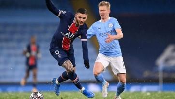 Зинченко стал лучшим игроком старта «Манчестер Сити» в игре против «ПСЖ»