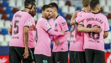 «Барселона» не обыграла «Леванте», ведя в счете 2:0