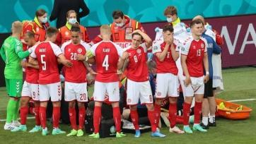 Матч Дания – Финляндия прерван в конце первого тайма. ОБНОВЛЕНО