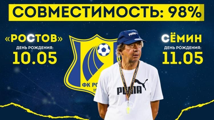 «Ростов» и Семин: совместимость – 98%. Фото