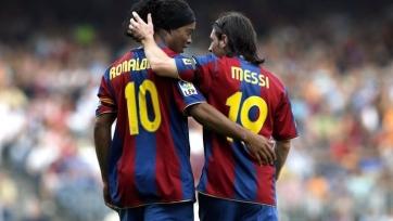 Роналдиньо: «Очень рад за Месси»