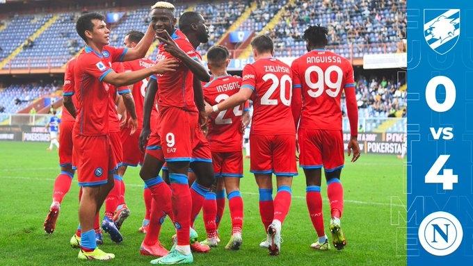 «Сампдория» – «Наполи» – 0:4. Обзор матча и видео голов