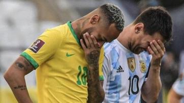 Официально. Матч Бразилия – Аргентина приостановлен