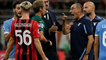Сарри был удален после окончания матча «Милан» — «Лацио»
