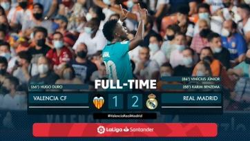 «Реал» двумя голами за 2 минуты вырвал победу у «Валенсии»