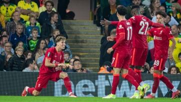 Кубок английской лиги: «Ливерпуль», «Лидс» и «Манчестер Сити» вышли в следующий раунд