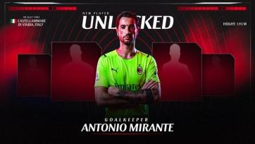 «Милан» объявил о трансфере 38-летнего вратаря