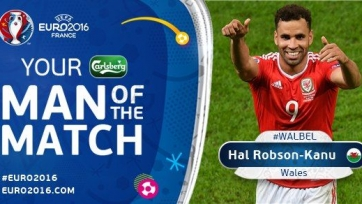 Хэл Робсон-Кану – лучший игрок матча между Уэльсом и Бельгией